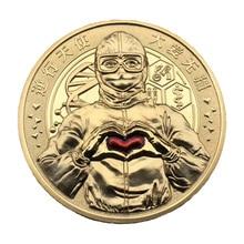 China hero volunteer Italy Spain Korea American Europe gold souvenir coin printio american hero