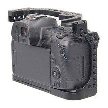 מגן מצלמה כלוב עבור Canon EOS R w/ Coldshoe 3/8 1/4 חוט חורים מצלמה וידאו מייצב מהיר שחרור צלחת סוגר