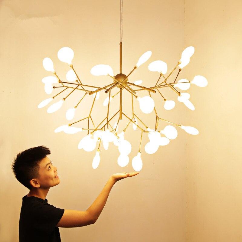 Светодиодный светильник на ветке дерева, люстра для кухни, ресторана, бара heracleum, блеск для салона, светильник для декора, подвесной светильн