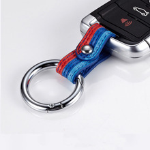 Car Keychain Keyring Covers Leather Key Chain Ring Universal For Audi Toyota BMW KIA Ford Mazda Auto Interior Accessories