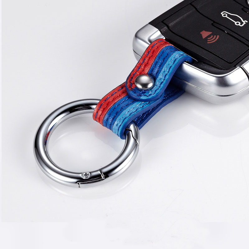 Car Keychain Keyring Covers Leather Key Chain Ring Universal For Audi Toyota BMW KIA Ford Mazda Auto Interior Accessories image