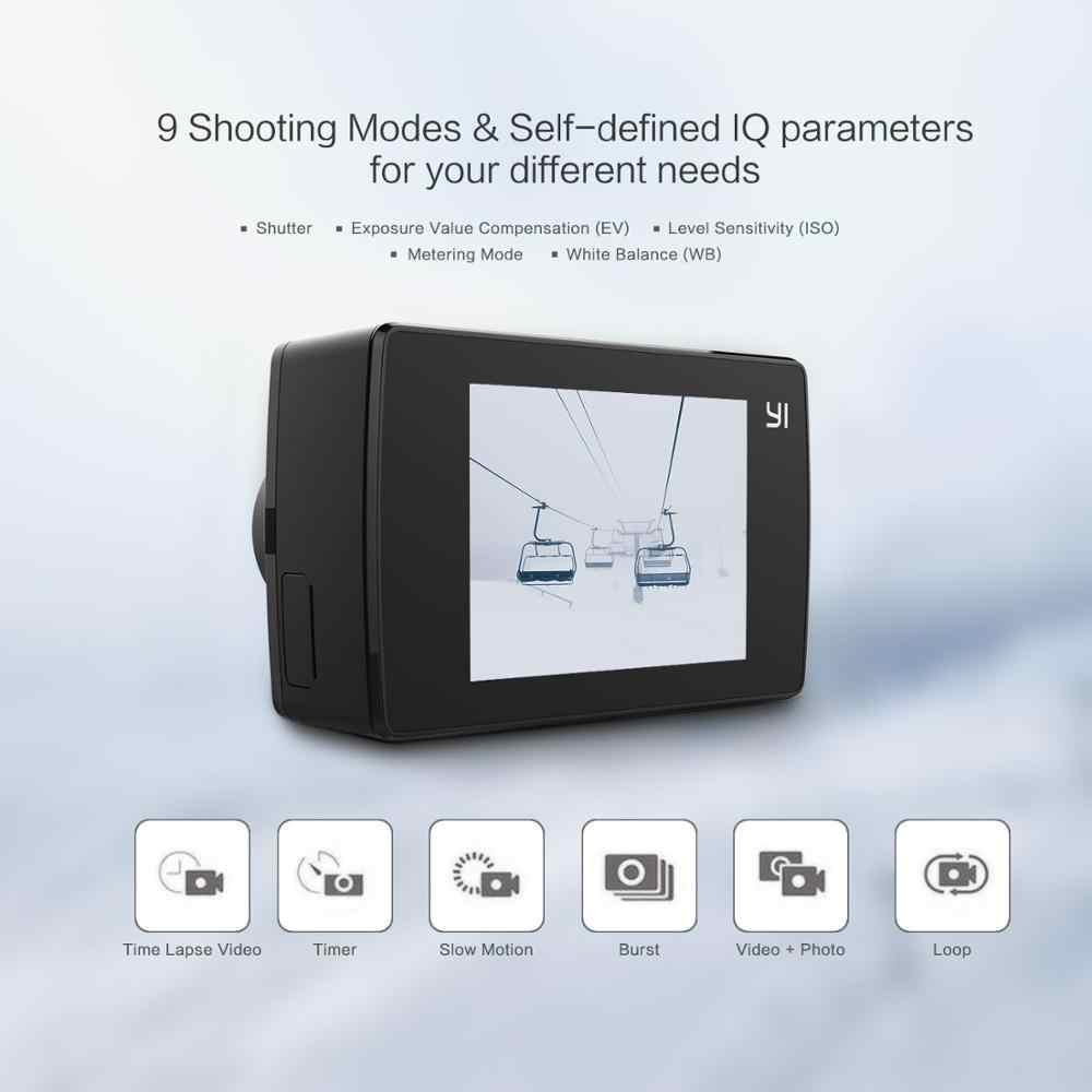 Yi Lite Action Camera 16MP Real 4K Olahraga Kamera dengan Built-In Wifi 2 Inci LCD Layar 150 Derajat Lebar sudut Lensa Hitam