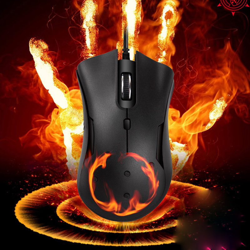 Wired Warmer Heated Mouse For Windows PC Games USB 2400 DPI With 6 Buttons Wired Gaming Silent Mouse For Laptop Notebook