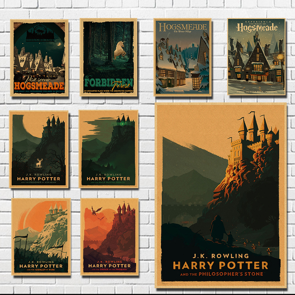 Vintage Movie Poster Retro Kraft Paper Anime Kitchen Poster Art Posters And Prints Living Room Decorative Painting