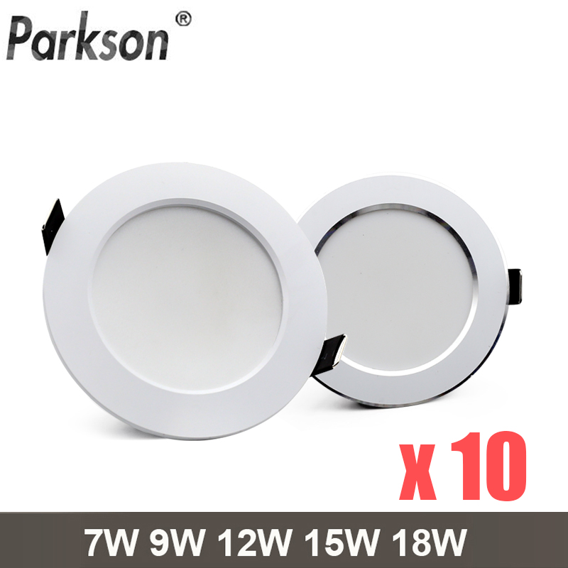 10PCS/lot Waterproof LED Downlight AC220V-230V Spot Led Lamp 18W 15W 12W 9W 7W Downlight Round Recessed Spot Light