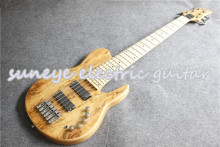 Natural Wood Electric Bass Guitar 6 String Neck Through Electric Bass Guitars Fodera Style Electric Bass Guitarra For Sale new china firehawk oem shop electric bass guitar 5 string bass active neck through body color can be changed ems free shipping