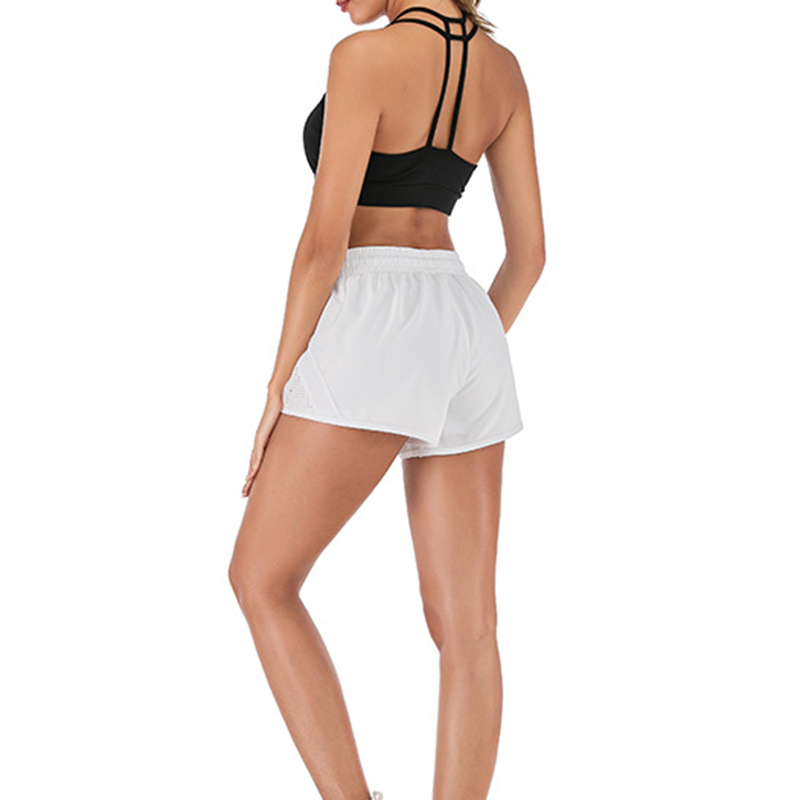 Hot Selling Women Anti-light Double-layer Fake Two Pieces Pants Quick-drying Shorts Fitness Pants