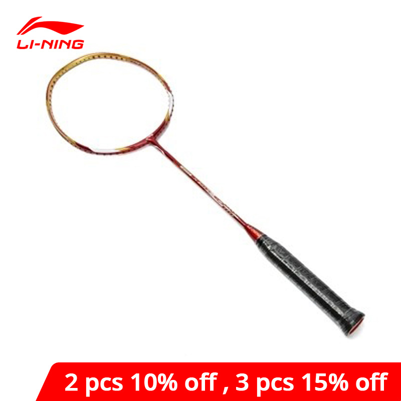 Li-Ning 3D Breakfree Woods N90-II S-Type Professional Badminton Racket Offensive Carbon Single LiNing Racket AYPF002 KZQ1078