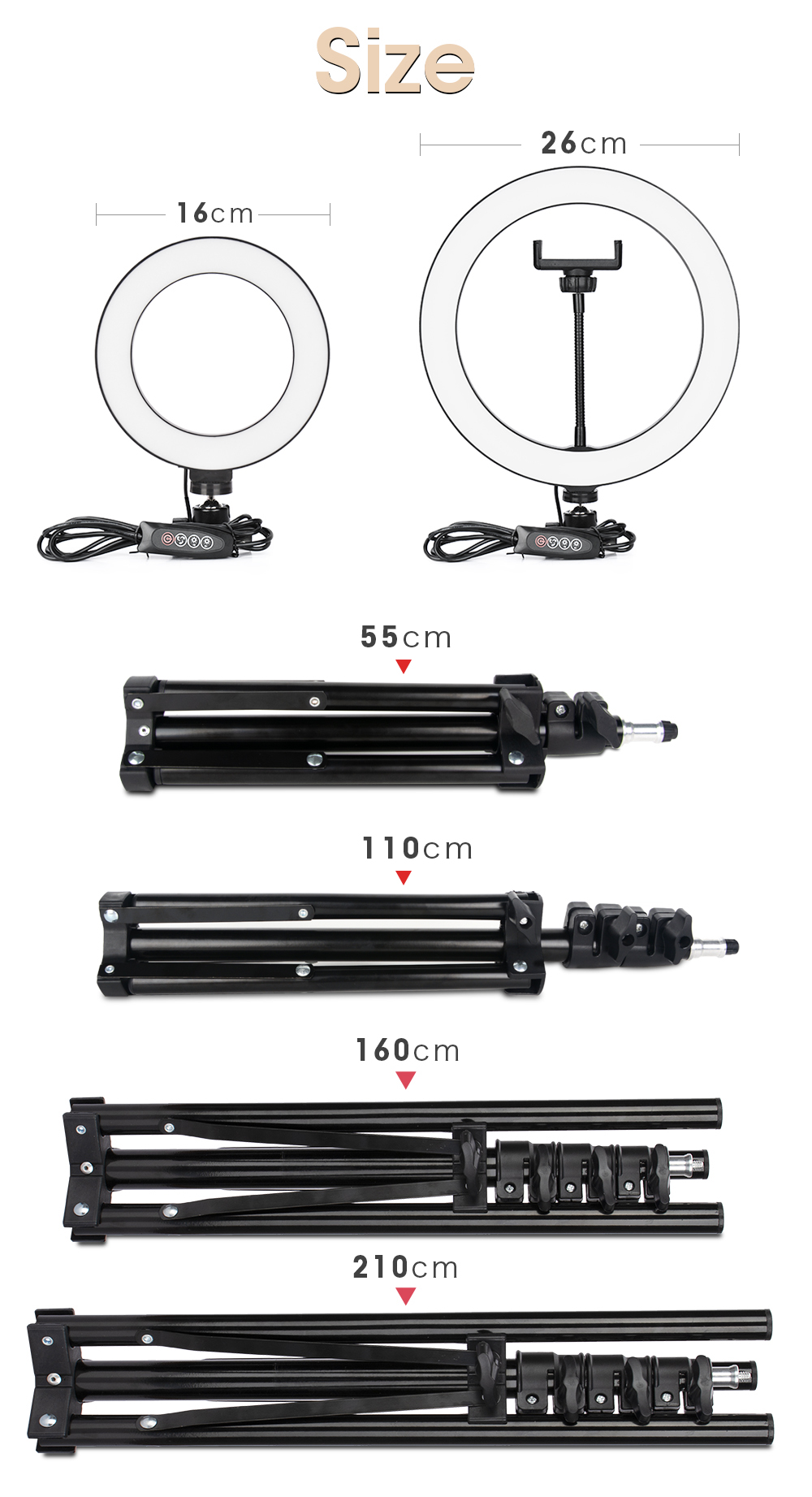 He6be76737d5e48da9e778bdcc807a501I LED Ring Light Photography Lighting Selfie Lamp USB Dimmable With Tripod For Youtube Photo Studio Makeup Video Live