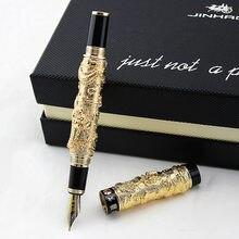 Jinhao ouro caneta ouro chinês oriental dragão caneta com frete grátis material de escritório caneta tinta