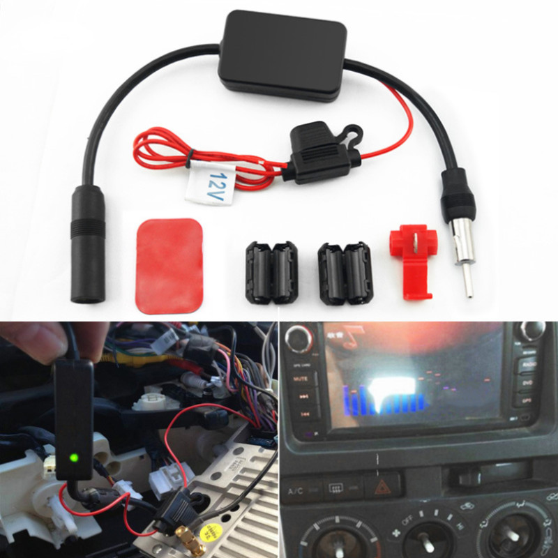 For Universal 12V Auto Car Radio FM Antenna Signal Amp Amplifier Booster For Marine Car Vehicle Boat 330mm Amplifier