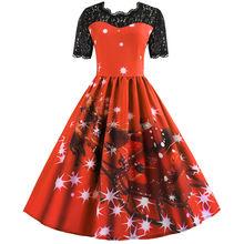 На Рождество хит Ретро стиль модные Стиль нарядные платья рождественские