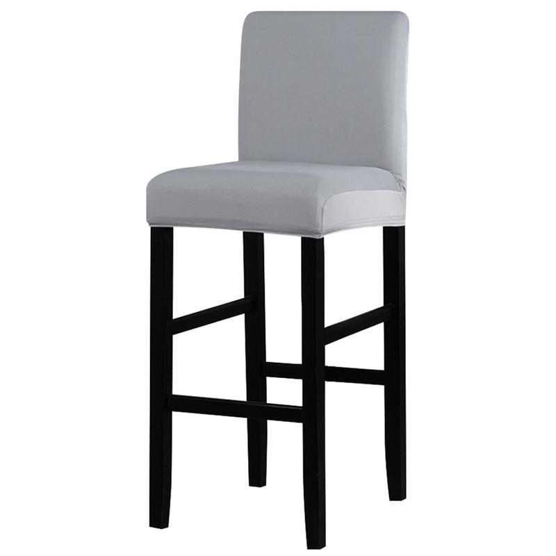 1 шт., стул из полиэстера спандекса, покрытие, твердые чехлы для сидений, для барных стульев, стульев, чехлов для дома, отелей, банкетов, обеденных стульев