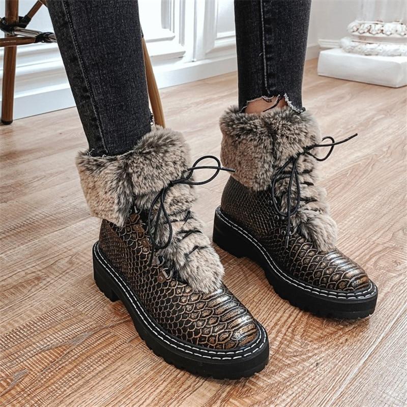 Новые осенние кожаные тонкие туфли феи на толстой подошве Женская нежная обувь с квадратным носком и ремешками - 6