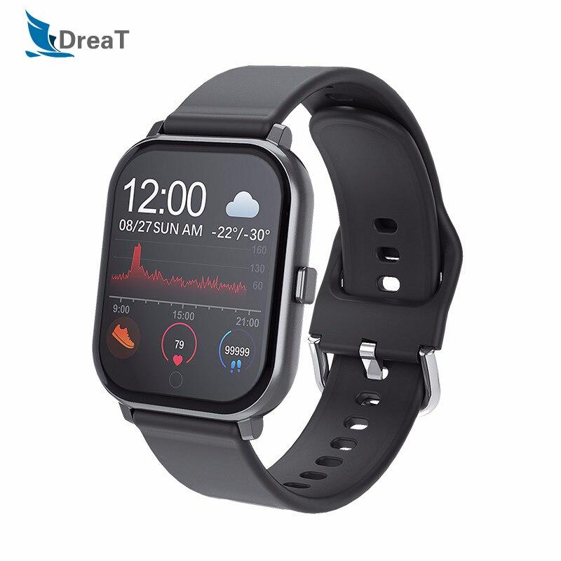 Smart Watch Android Watches Men Waterproof SmartWatch for Women Fitness Bracelet Waterproof Wristband T55 Pk P70 B57 for Phones