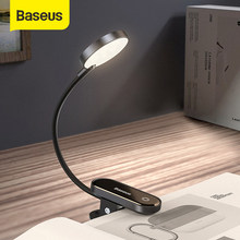 Baseus Mini LED Lesen Tisch Clip Lampe Auge schutz Dimmbare Nacht Lampe Wiederaufladbare Schlafzimmer Nacht Lichter für Home Office