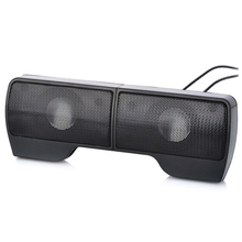 лучшая цена Portable Clip-On USB Powered Stereo Speaker Soundbar for Notebook Laptop PC Desktop Tablet