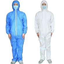 Disposable Clothing Factory Hospital Safety Coverall Protection Anti Bacteria Isolation Hazmat Suit Jumpsuit