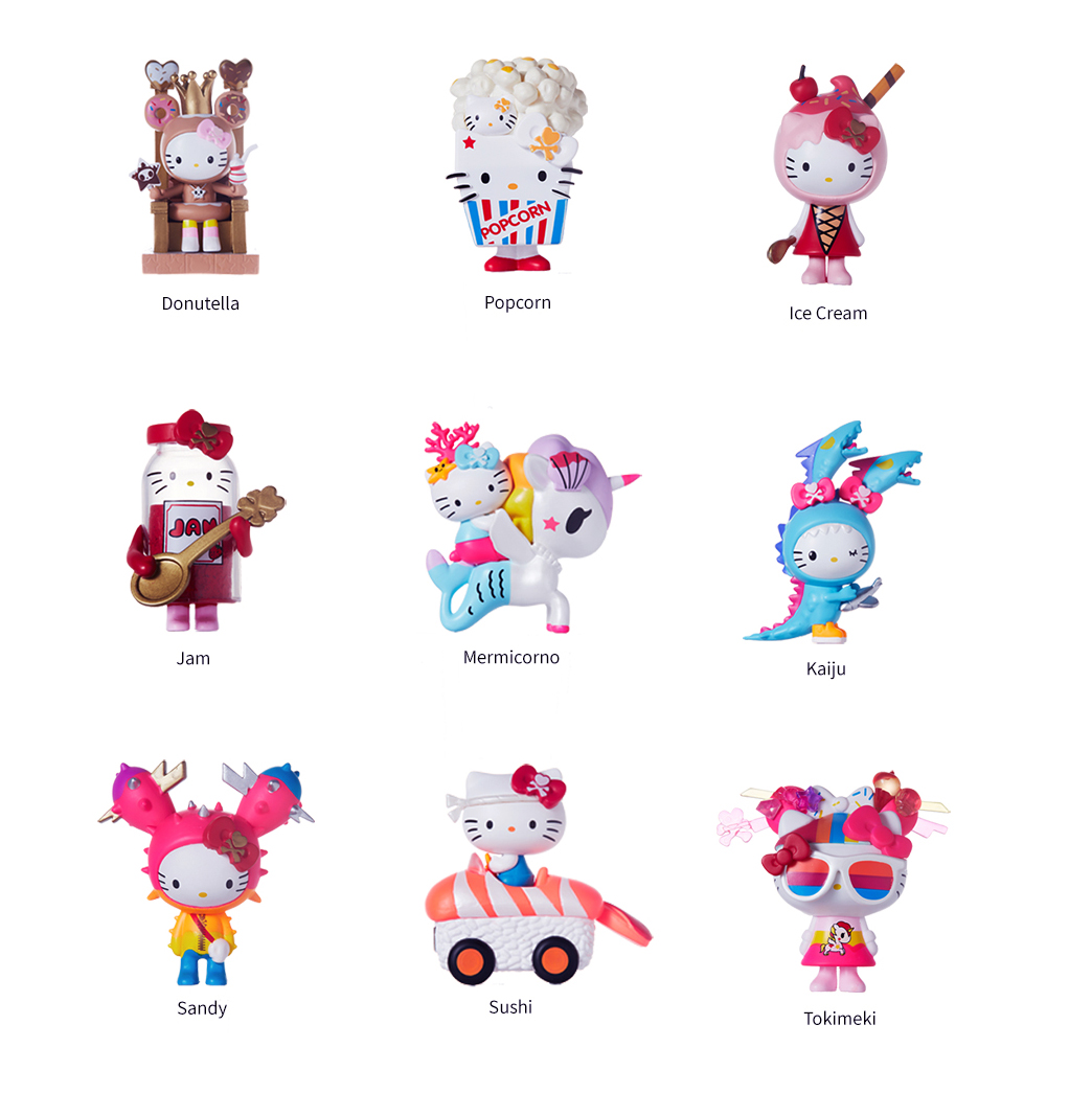 Original Tokidoki Hello Kitty Series Figure Model Blind Box Doll Decoration Toy Gift Collections