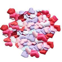 200 шт., искусственные Романтические лепестки роз в форме сердца, вечерние, свадебные украшения для кровати, украшения для свадебного душа