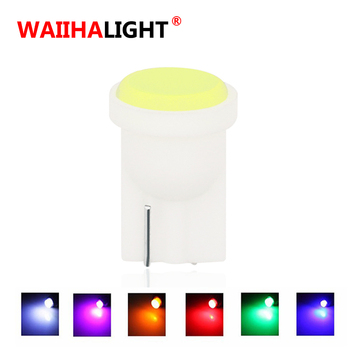 1pcs WAIIHALIGHT T10 COB W5W LED Car Interior Light Wedge Side Door Instrument Side Bulb License Plate Lamp Car Light 7 Colors image