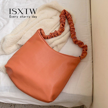 ISXTW Bags For Women Luxury Handbags Handbag Designer Fashion Tote Bag In Shopping Solid Color PU Leather Shoulder Bags/B36