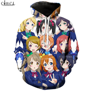 Hippie Hipster Classic Love Live Hoodies Men Women 3D Print Japanese Anime Girl Jogging Sportswear Casual Streetwear Tops T483