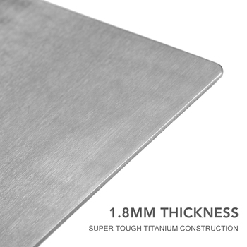 Lixada 1.8MM Thick Titanium Cutting Board for Home Kitchen Cooking Outdoor Chopping board kneading board Camping Cookware 5