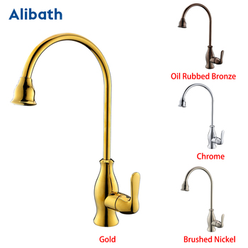 Promotion Solid Brass Chrome Hot And Cold Kitchen Faucet Sink Mixer Tap With Aerator Sink Faucet Brushed Nickel/Gold. traditional style 100% solid brass dual twin ceramic white lever chrome kitchen sink mixer tap monobloc faucet high quality