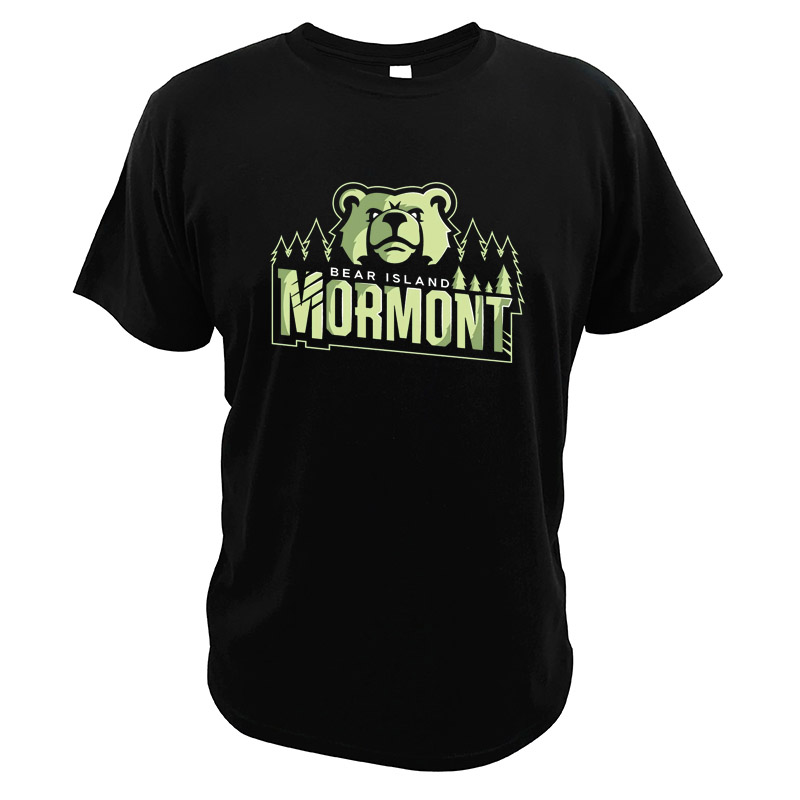 Men Tee House Mormont T Shirt Bear Island Game Of Thrones Fantasy TV Series T Shirts Digital Print O-neck Short Sleeve Tops image