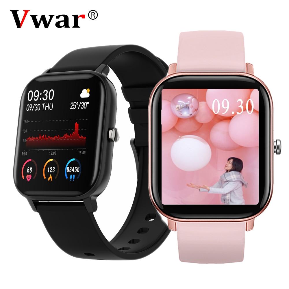 2020 Vwar P8A Smart Watch Men Women Fitness Tracker Smartwatch Heart Rate Monitor Sports Watches GTS for IOS Xiaomi Huawei OPPO(China)