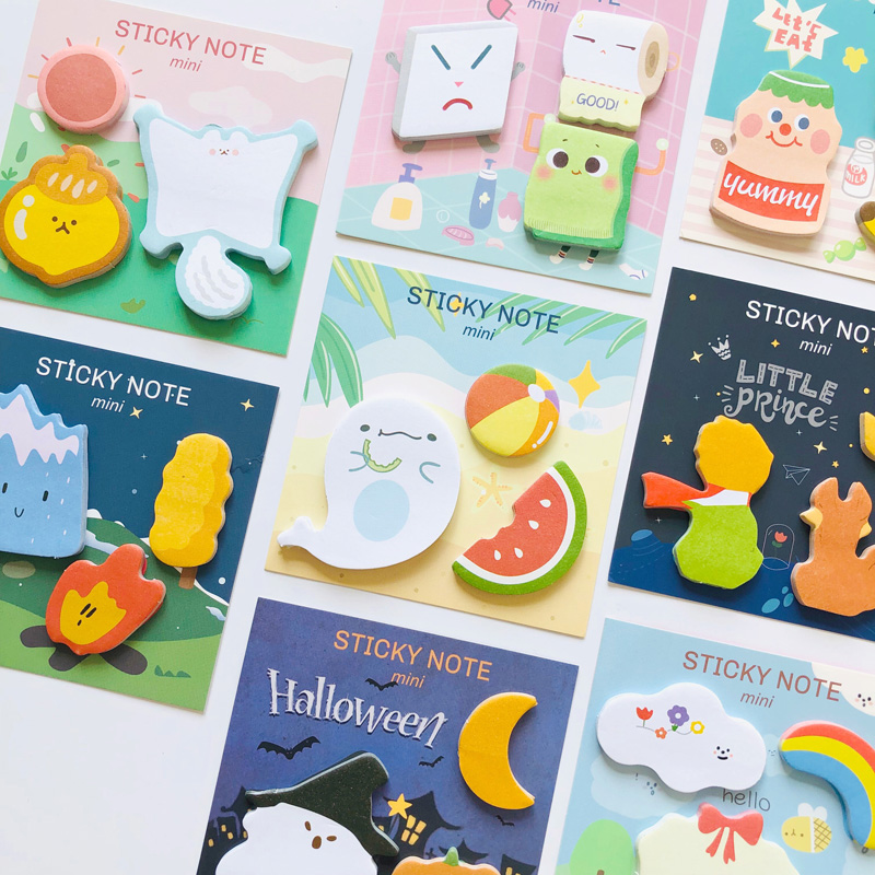 90 Pages Kawaii Cartoon Childhood Life Memo Pad Sticky Notes Stationery