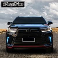 Car Styling for Toyota Highlander 2018 Modification of Streamliner Tablets for 2018 Meter Stone Lens LED Day Lights