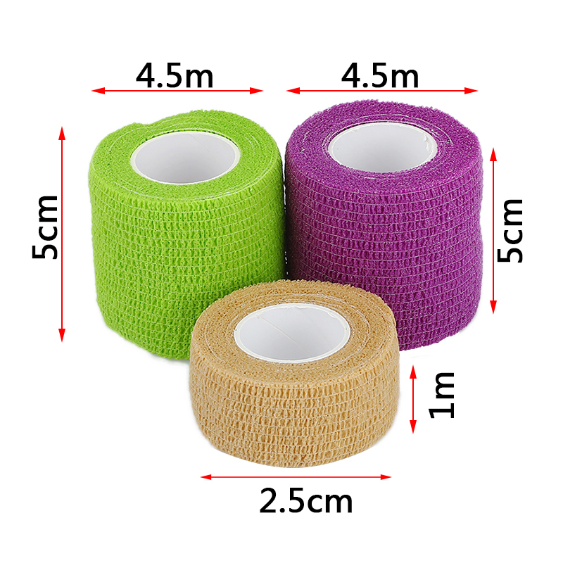 1/3/5 Pcs Self Adhesive Bandage Waterproof Medical Therapy Muscle Tape Finger Joints Wrap First Aid Kit Pet Elastic Bandage