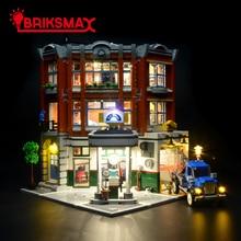 BriksMax Ha Condotto La Luce Up Kit per Angolo Garage Stazione di Riparazione Auto Blocchi di Costruzione del Modello di Illuminazione Set Compatibile con 10264