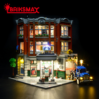 BriksMax Led Light Up Kit for Corner Garage Car Repair Station Building Blocks Model Lighting Set Compatible with 10264