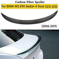 Rear trunk spoiler For BMW E90 spoiler E90 & E90 M3 carbon fiber 318i 320i 325i 330i E90 sedan rear wing CF 2006 2011