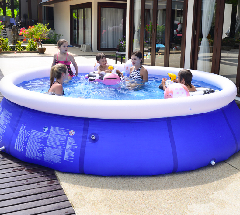 240X76Outdoor Courtyard Swimming Pool Round Bracket Swimming Pool Large Children's Pool Outdoor Inflatable Bracket Swimming Pool
