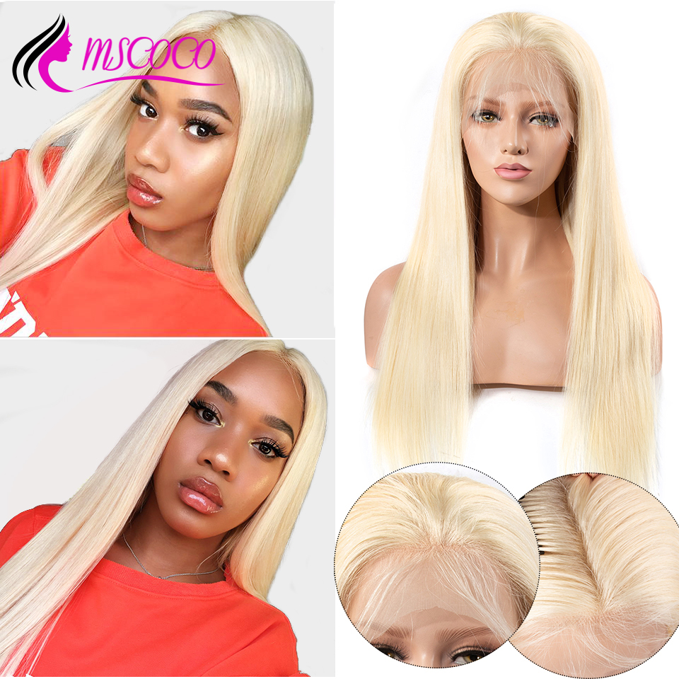 613 Blonde Wig Lace Front Human Hair Wigs Brazilian Straight 13x6 Lace Frontal Wig Pre Plucked HD Transparent Lace Wig Mscoco