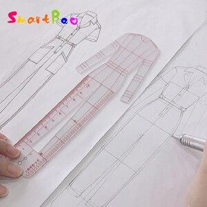 Image 1 - Женская модная дизайнерская линейка, оригинальная Женская одежда, модель человеческого тела, женский шаблон, линейка, подходит для бумажного дизайна формата А4