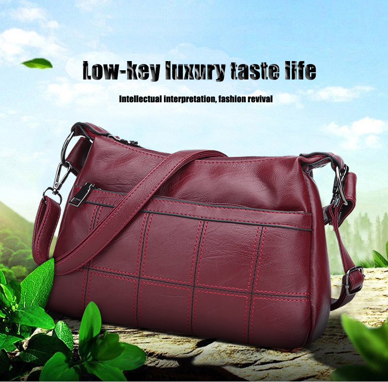 High-grade leather ladies shoulder bag diagonal handbag new fashion luxury travel TJ909