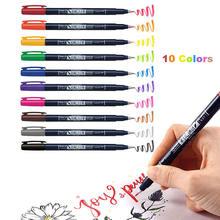 Новинка 2020 10 цветов мягкая ручка маркер с надписями каллиграфическая