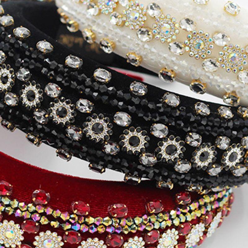 Exagerada jóias aro de cabelo tiara esponja