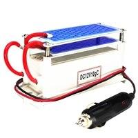 Gerador de ozônio carro 12v 10g placa cerâmica portátil purificador ar esterilizador ar do carro ozônio ar mais limpo ozonizador odor