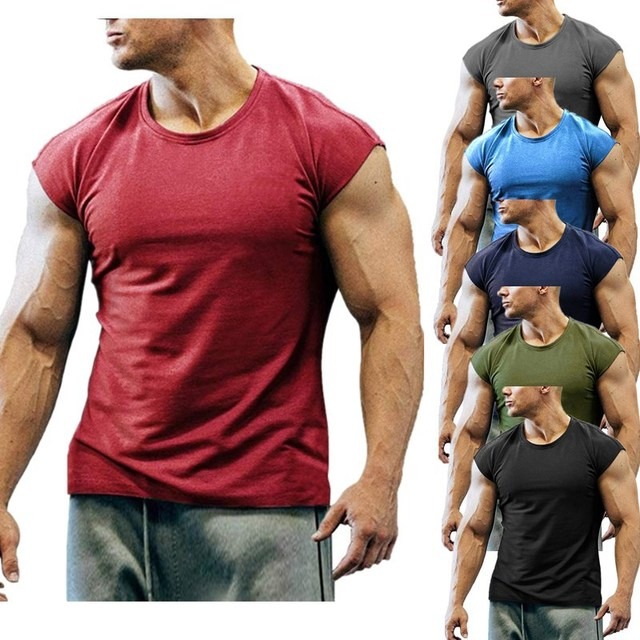 2021 New Fashion Summer Mens Sleeveless T-Shirts Casual Sports Fitness Muscle Tees Breathable Training Clothes Slim Sportswear 1