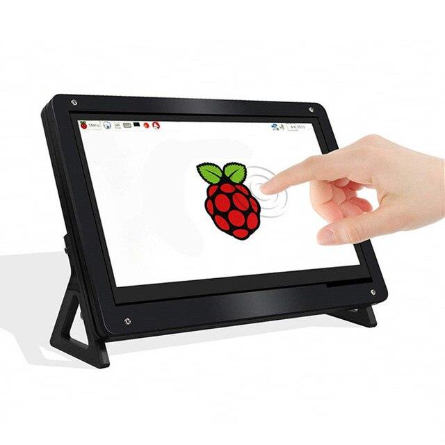 New 7 pulgadas 1024x600 USB HDMI LCD Monitor de pantalla táctil capacitiva funda, soporte para Raspberry Pi Windows