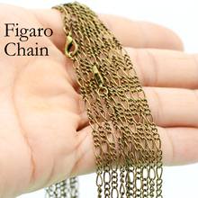 50 x Antique Bronze Figaro Chain Necklace, Bronze Figaro Necklace, 18 24 Inches Bronze Necklace, Antique Bronze Chain Necklace