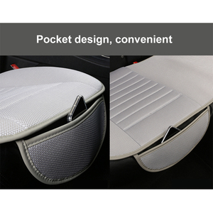 Image 4 - Ultra Luxury Car Seat Protection Single Seat Without Backrest Breathable Ice silk Car Seat Cover For Most Four Door Sedan&SUV