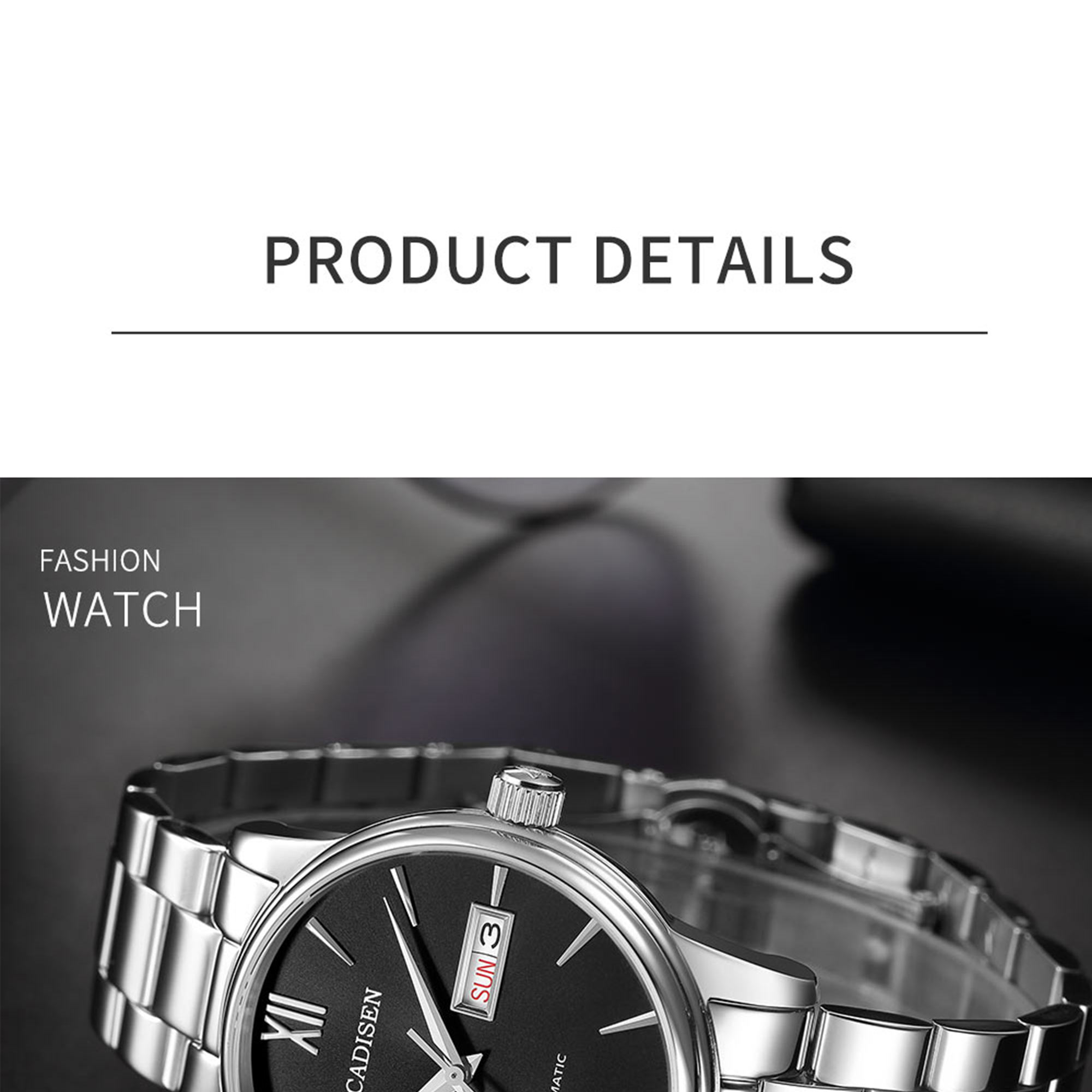 He6c119b037a24204b6fa5f9a500d7bb06 CADISEN Men Watch Automatic Mechanical Watches Role Date Week Top Luxury Brand Japan NH36A Wrist watch Clock Relogio Masculino