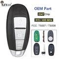 Брелок KEYECU 315 МГц/433 МГц PCF7953 / ID47 TS008 / TS007 OEM с двумя кнопками для Suzuki Swift SX4 Vitara 2010-2016